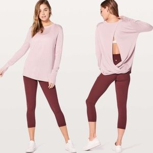 Lululemon Bring It Backbend Sweater in Pink